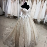 Свадебное платье Капучино со шлейфом, Ростов-на-Дону