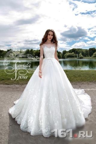 3a5cf4d503d Новое свадебное платье со шлейфом Semida-Sposa