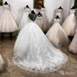 Новое свадебное платье с рукавом и шлейфом, Ростов-на-Дону