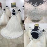 Свадебное платье со шлейфом в цвете Айвори, Ростов-на-Дону
