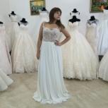 Прямое свадебное платье с кружевом, Ростов-на-Дону