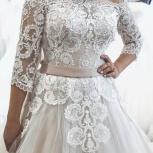 Новое свадебное платье Капучино с рукавом, Ростов-на-Дону