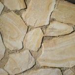 Камень пластушка песчаник Бело-жёлтый с разводами, Ростов-на-Дону
