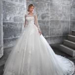 Свадебное платье со шлейфом и цветами, Ростов-на-Дону