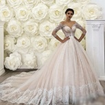 Свадебное платье в цвете пудра со шлейфом, Ростов-на-Дону