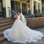 Новое свадебное платье в цвете Pudra со шлейфом, Ростов-на-Дону