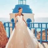 Свадебное платье со шлейфом и кружевом, Ростов-на-Дону
