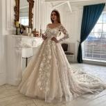 Свадебное платье со шлейфом 3D, Ростов-на-Дону