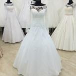 Атласное свадебное платье с рукавом и кружевом, Ростов-на-Дону