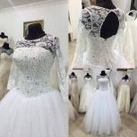 Свадебное платье с рукавом и стразами, Ростов-на-Дону