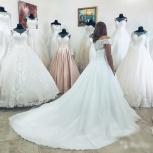 Новое свадебное платье со шлейфом и пайетками, Ростов-на-Дону