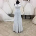 Прямое, кружевное свадебное платье, Ростов-на-Дону