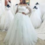 Новое, кружевное свадебное платье с рукавом, Ростов-на-Дону