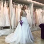 Свадебное платье со шлейфом горный хрусталь, Ростов-на-Дону