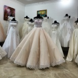 Пышное свадебное платье в нежно-персиковом цвете, Ростов-на-Дону