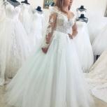 Новое кружевное свадебное платье с рукавом, Ростов-на-Дону