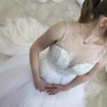 Свадебное платье со шлейфом в нюдовом цвете, Ростов-на-Дону