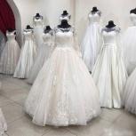 Новое свадебное платье в цвете пудра с рукавом, Ростов-на-Дону