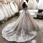 Свадебное платье со шлейфом Пудра, Ростов-на-Дону