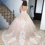 Новое свадебное платье со шлейфом в цвете Капучино, Ростов-на-Дону