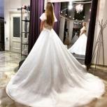 Свадебное платье с плечиками и шлейфом, Ростов-на-Дону