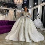 Королевское свадебное платье со шлейфом в стразах, Ростов-на-Дону