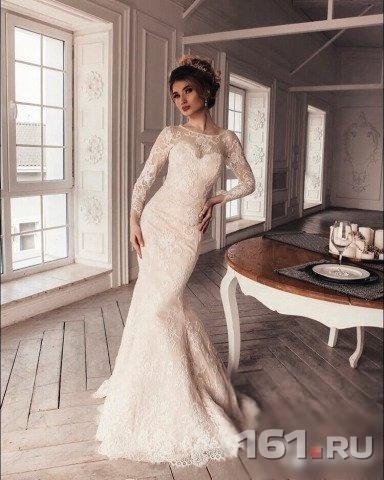 cc8a135e31e Свадебное платье Рыбка с рукавом