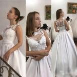 Новинка. Атласное свадебное платье с 3D цветами, Ростов-на-Дону