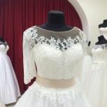 Новое свадебное платье с рукавом на пуговках, Ростов-на-Дону