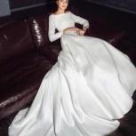 Свадебное платье со шлейфом атлас, Ростов-на-Дону