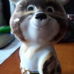 Продам фарфоровую фигурку олимпийского мишки, ссср, 1980 год, Ростов-на-Дону