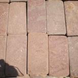 Натуральный камень песчаник красный пиленый + галтованный (плитка), Ростов-на-Дону