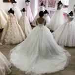 Блестящее свадебное платье со шлейфом, Ростов-на-Дону