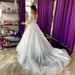 Свадебное платье со съёмным шлейфом, Ростов-на-Дону
