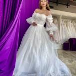 Свадебное платье со шлейфом Бохо, Ростов-на-Дону